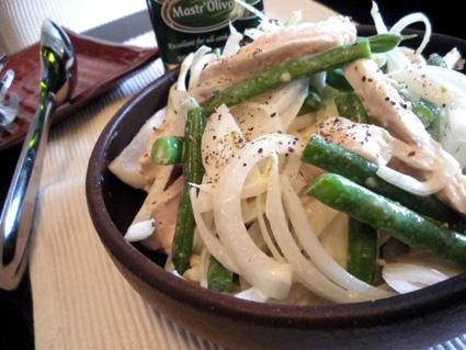 20110403 いんげんと鶏ささみサラダ.jpg