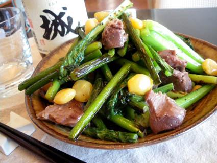 20121118 チンゲン菜と砂肝炒め.jpg