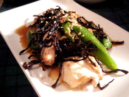 20130311 豆腐とスナップエンドウの塩昆布炒め.jpg