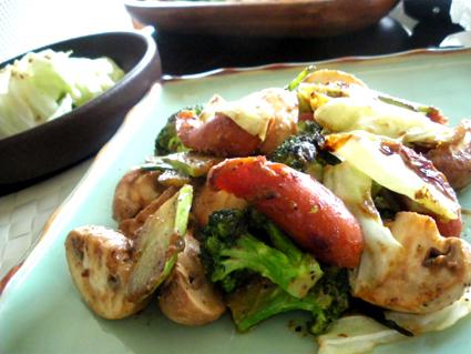 20130526 ウィンナーとマッシュルームのバタ味噌炒め2.jpg