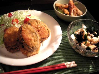 20130927 茄子はさみ揚げ定食.jpg
