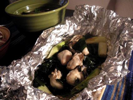 20131116 牡蠣とわかめのホイル焼き.jpg